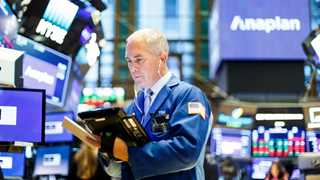 Dow gains 300 points after upbeat jobs report