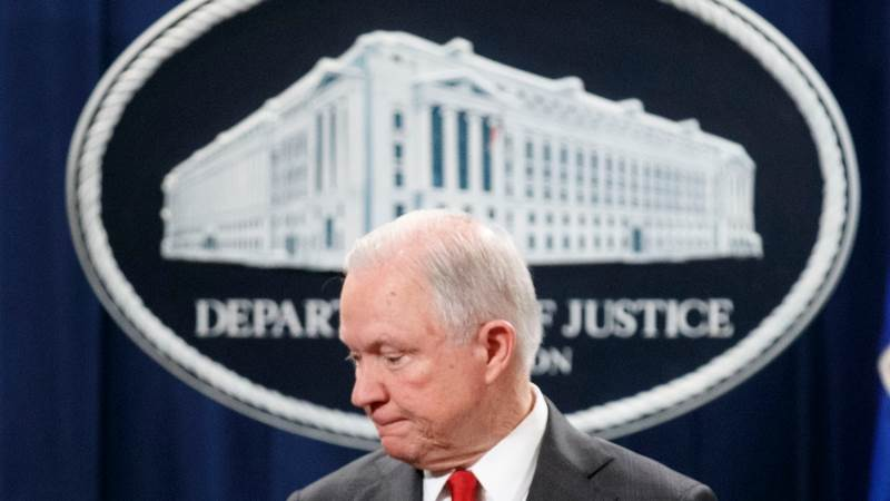 Trump says Attorney General Jeff Sessions steps down