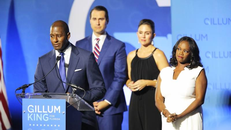 Gillum's campaign hints at recount in FL governor race