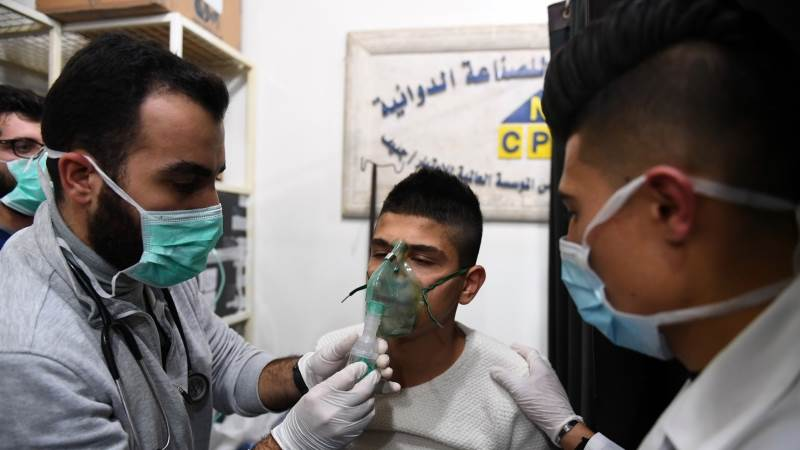 Russia says Aleppo shells were filled with chlorine
