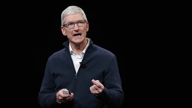 Cook dismisses worries over Apple after lowering guidance