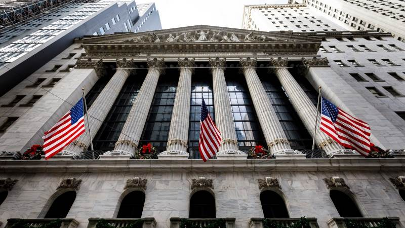 US markets open in the red on shutdown unease