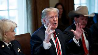 Trump makes case for wall, urges Dems to return