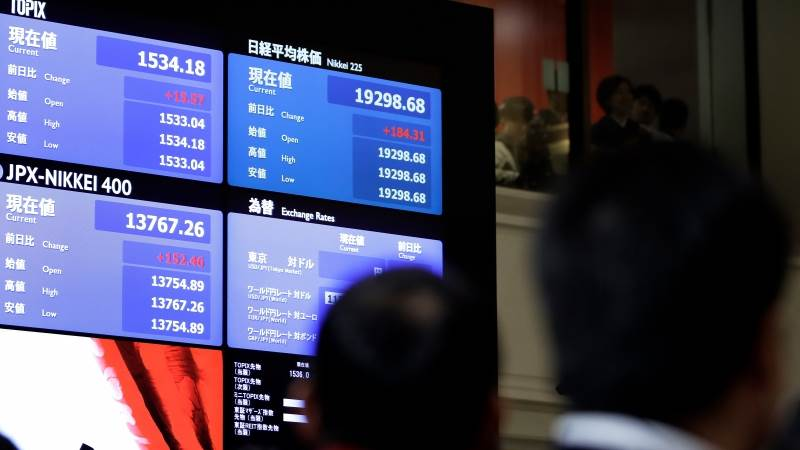 Asian markets trade lower after China trade data