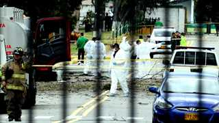 Car bomb kills 10 at police academy in Bogota