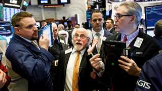 Dow rebounds, gains more than 120 pts