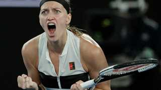 Kvitova beats Collins to book final spot