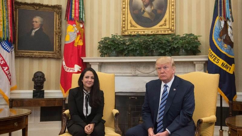 Trump tweets 'welcome home' to Aya Hijazi