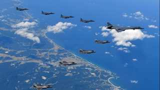 US flies nuclear-capable bombers close to N. Korea
