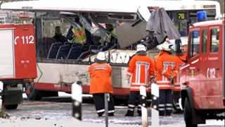 School bus crashes in Germany,  20 injured