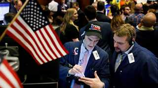 Dow at all-time high, rises 300 points