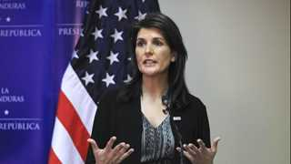 Haley: US to intervene in Syria if UN fails to act