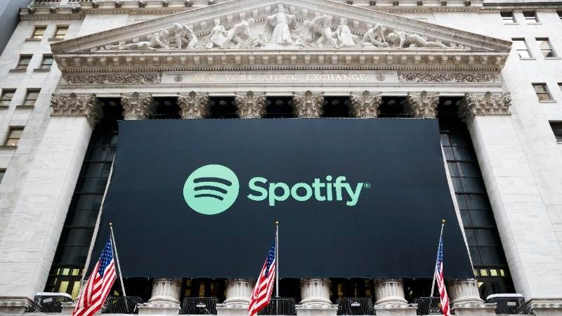 Spotify debuts on NYSE at $165.90 per share