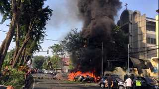 Indonesian suicide bombers members of same family - officials