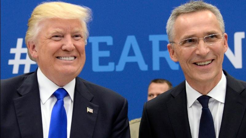 NATO's Stoltenberg praises Trump's 'strong commitment'