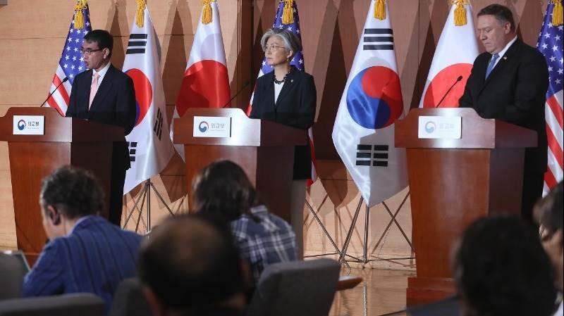 Hasil gambar untuk Top diplomats of S. Korea, Japan, U.S. to meet next week