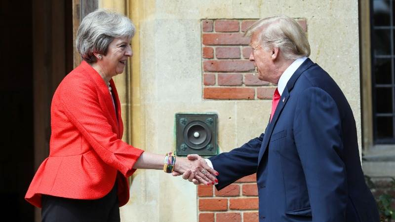Trump, May to discuss trade, military at Chequers