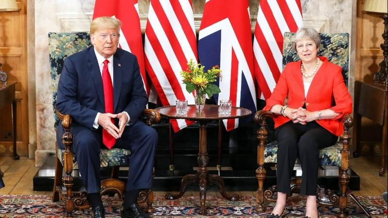 May: US, UK to work on ambitious free trade deal after Brexit