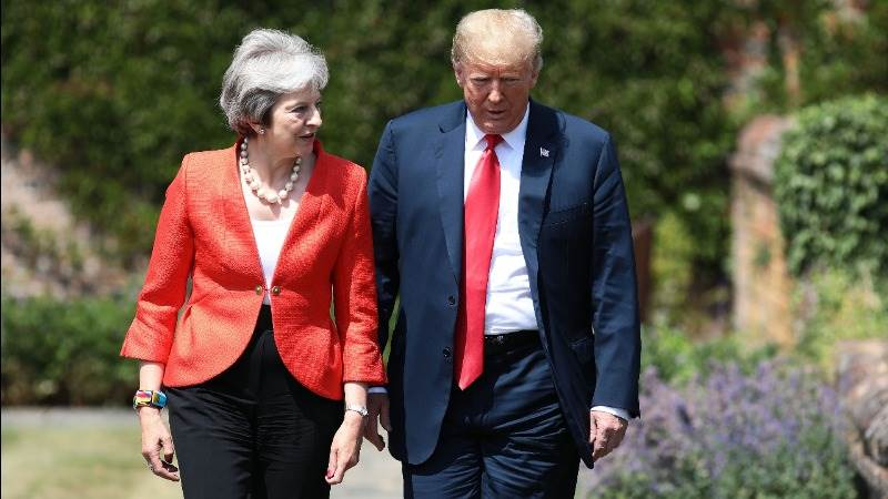 Trump: Johnson would be great but May is terrific