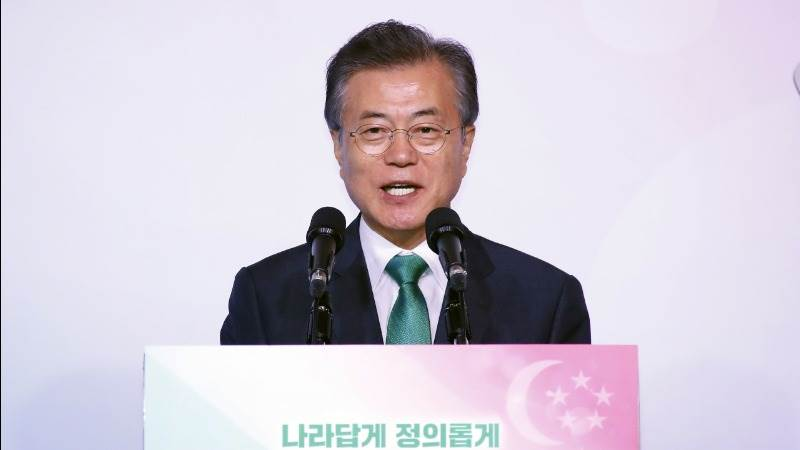 Moon: Kim wants to make N. Korea normal country