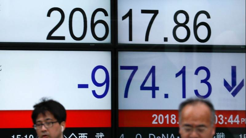 Asian markets mostly in red amid US-Japan trade talks