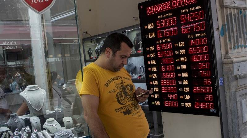 Turkish lira extends losses, down over 30% in 3 days