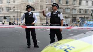 Car crashes into London's Parliament Square barriers