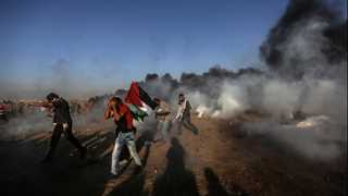 Two Palestinians killed, over 200 wounded in Gaza protests