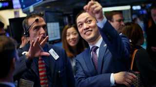 Dow, S&P 500 start with records; gold slumps