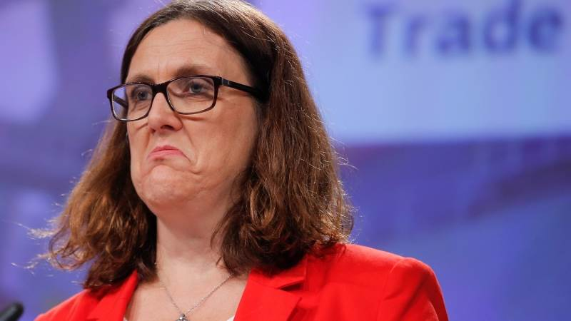 Malmstrom: US, China trade moves irresponsible